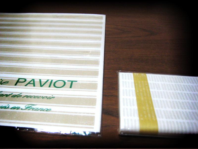 PAVOIT、質感が優しくて、ほっとするようなペーパーナプキン。