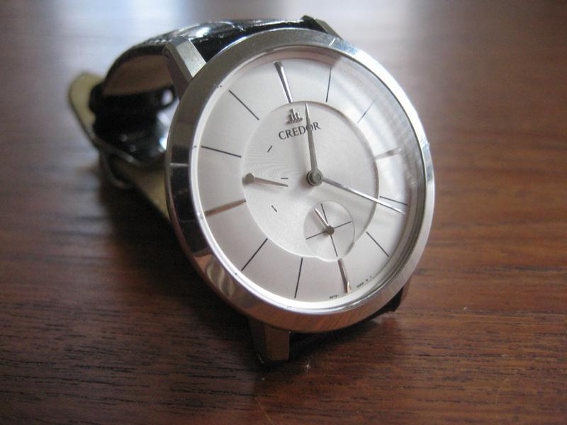 Credor、極限までにシンプルな時計。