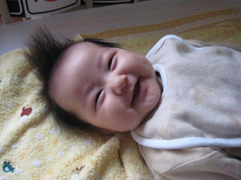 はじけんばかりの笑顔。