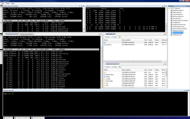 SuperPutty。puttyを複数のタブで開くソフト。