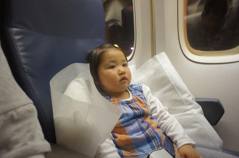 子供とハワイ旅行記(2日目)~デルタ航空機内