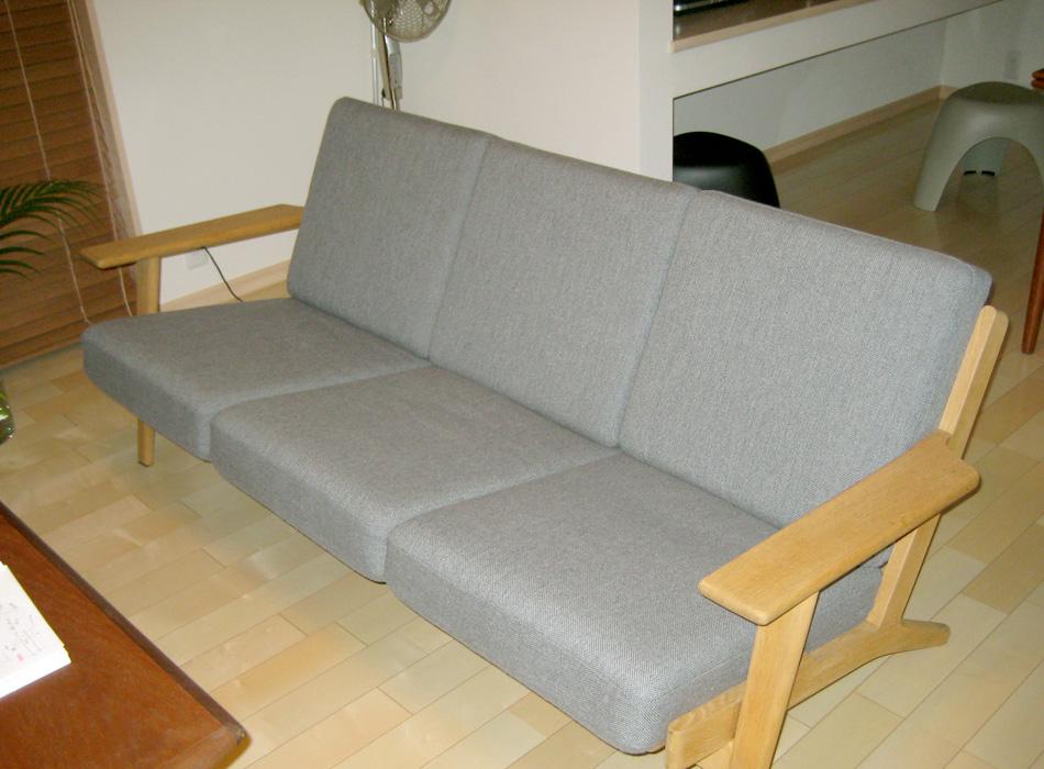 GE290、ウェグナーがGetama社にデザインしたソファー。