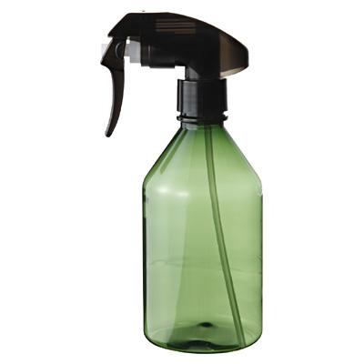 シンプルなスプレーのボトル。無印。